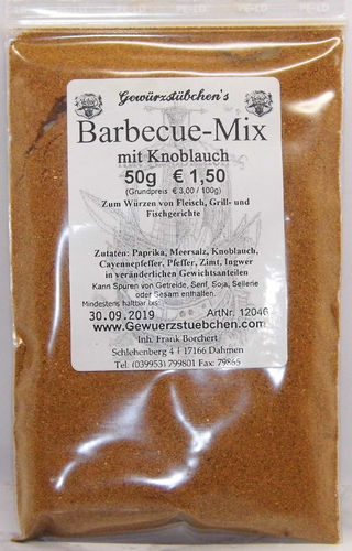 Barbecue mit Knoblauch (50g)