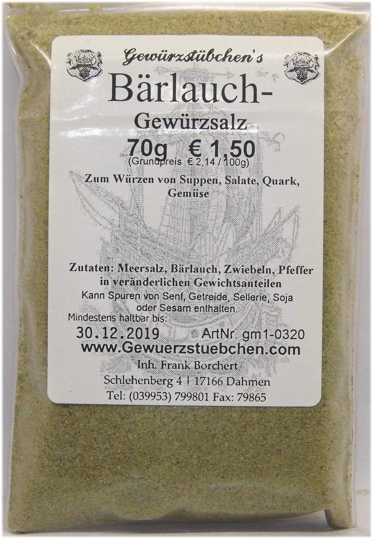 Bärlauch Würzsalz (70g)