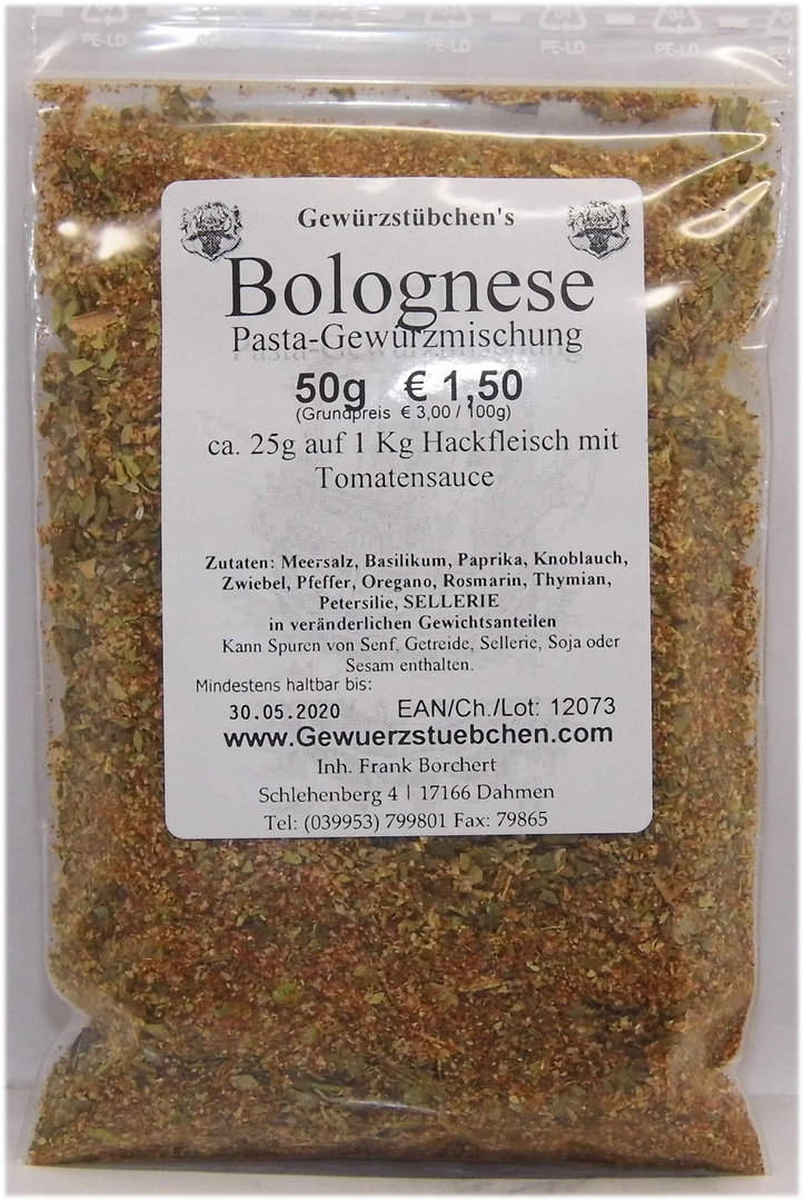 Bolognese Pasta-Gewürz (50g)