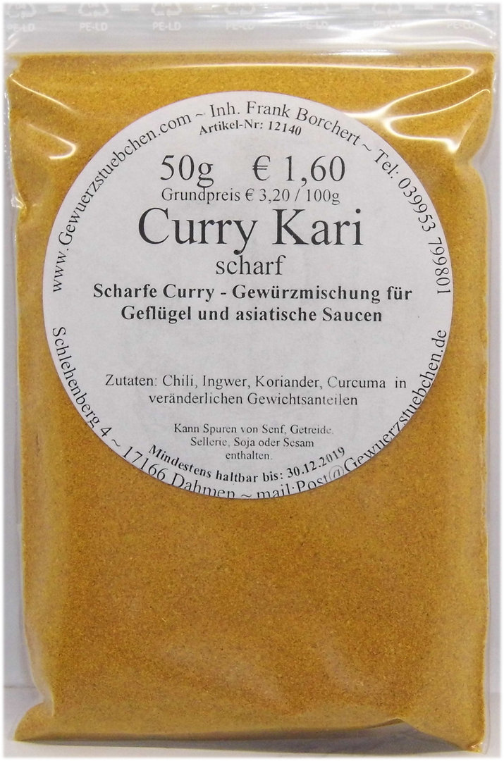 Curry Kari (50g) scharf