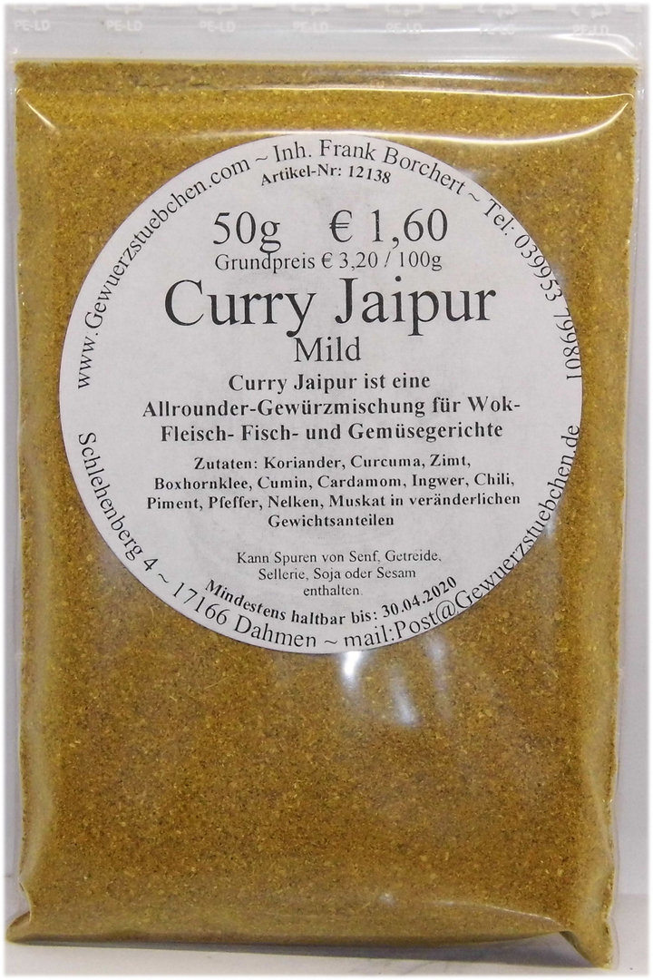 Curry Jaipur (50g) mild