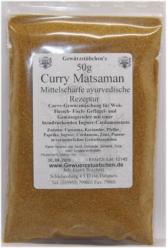 Curry Matsaman (50g)