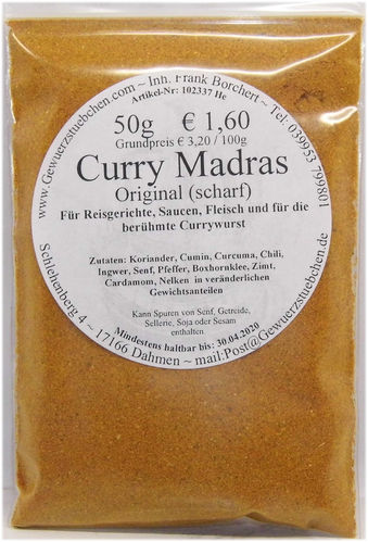 Curry Madras Original (50g scharf)
