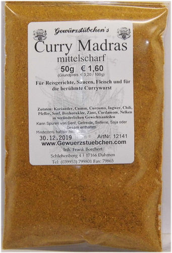 Curry Madras mittelscharf (50g)
