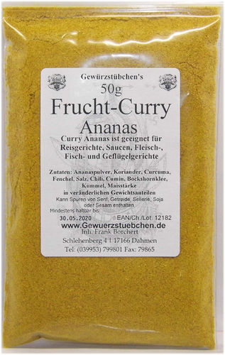 Frucht-Curry Ananas (50g)