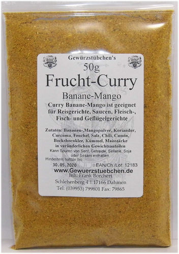 Frucht-Curry Banane-Mango (50g)