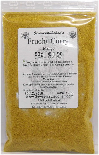 Frucht-Curry Mango (50g)