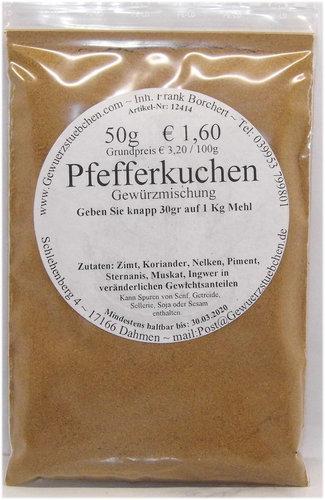 Pfefferkuchengewürz (50g)