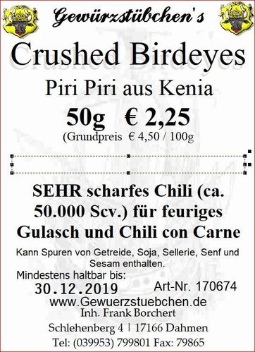 Crushed Birdeyes Chili (50g)