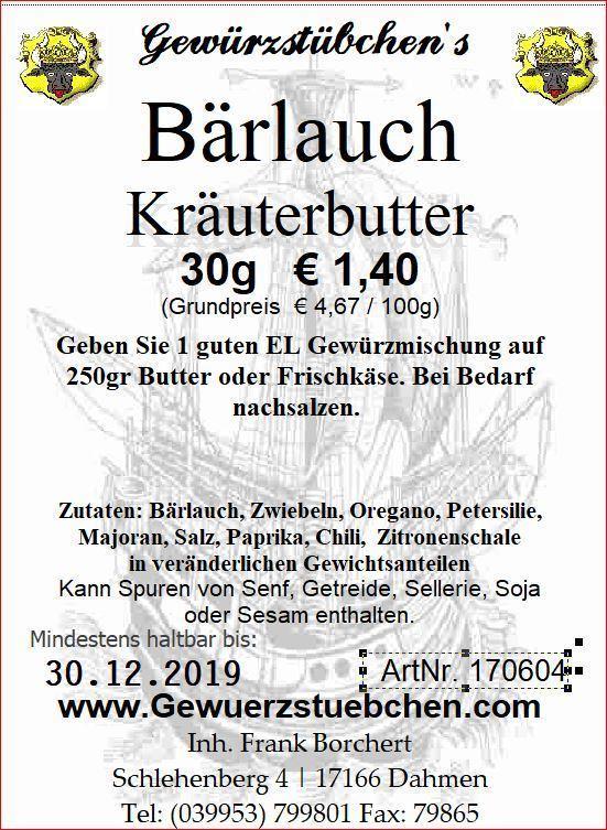 Bärlauch Kräuterbutter (30g)