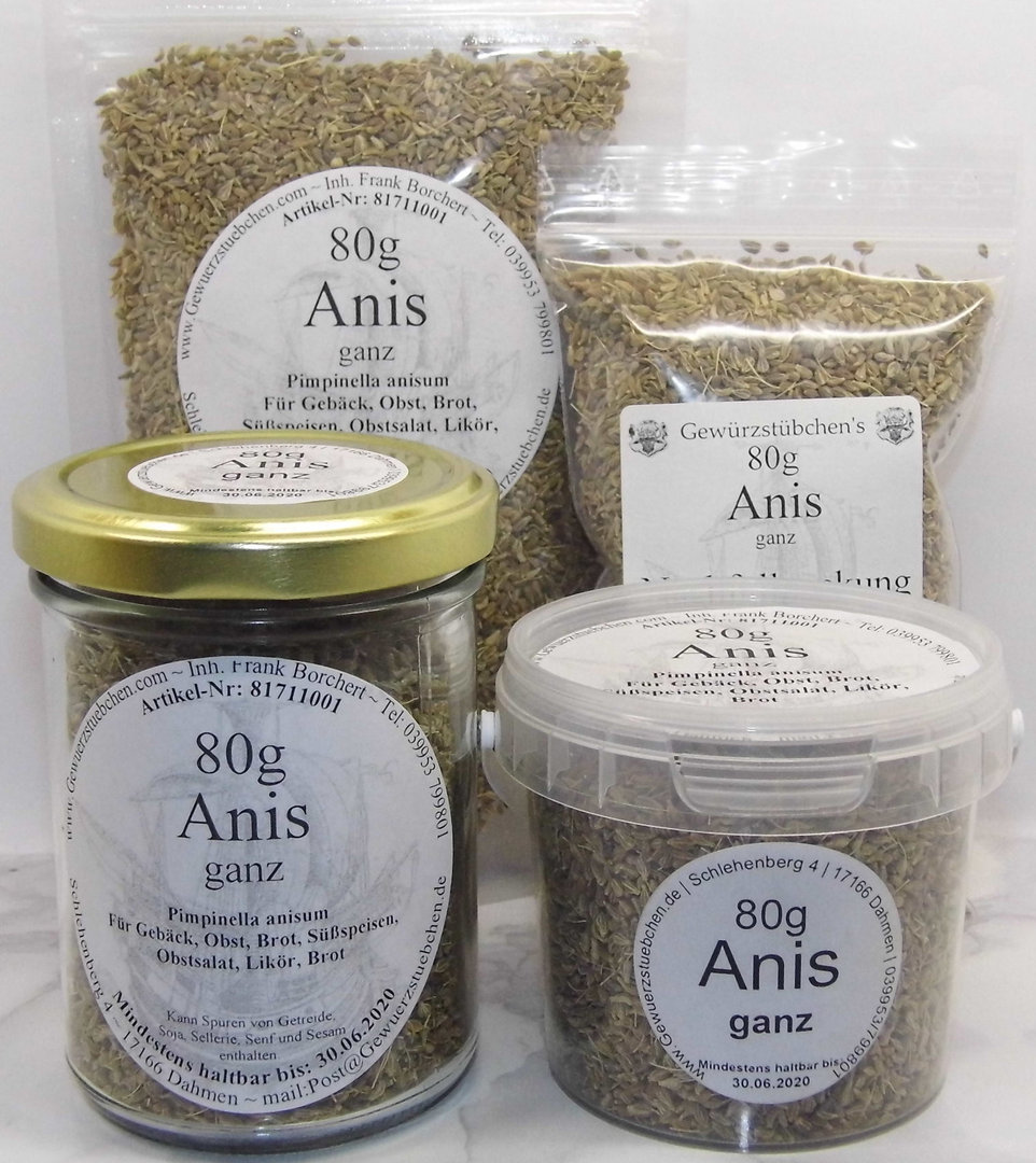 Anis ganz (80g) variable Verpackung