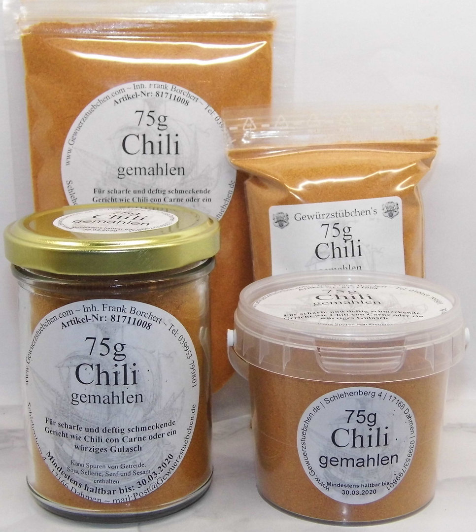 Chili gemahlen (75g) variable Verpackung