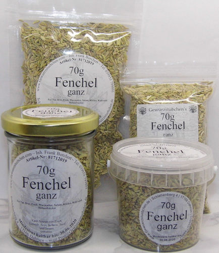 Fenchel ganz (70g) variable Verpackung