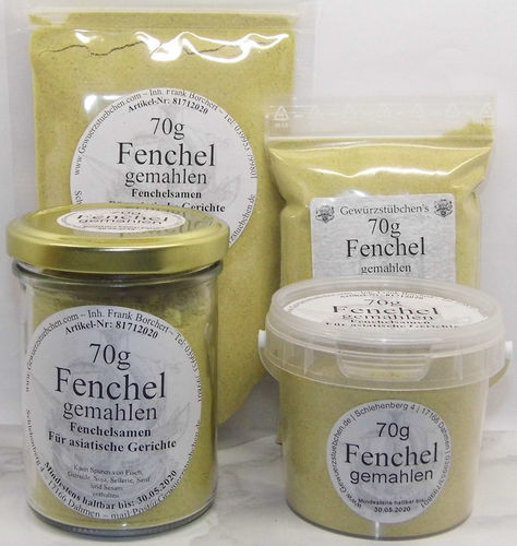 Fenchel gemahlen (70g) variable Verpackung