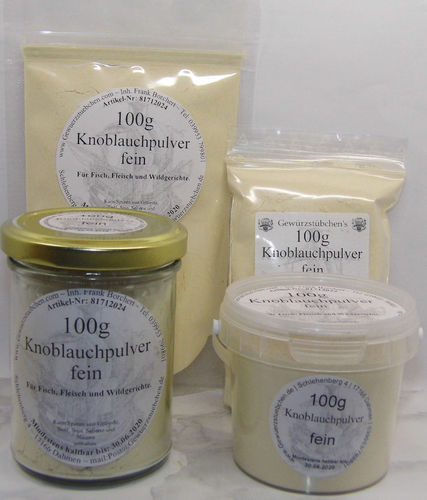 Knoblauchpulver fein (100g) variable Verpackung