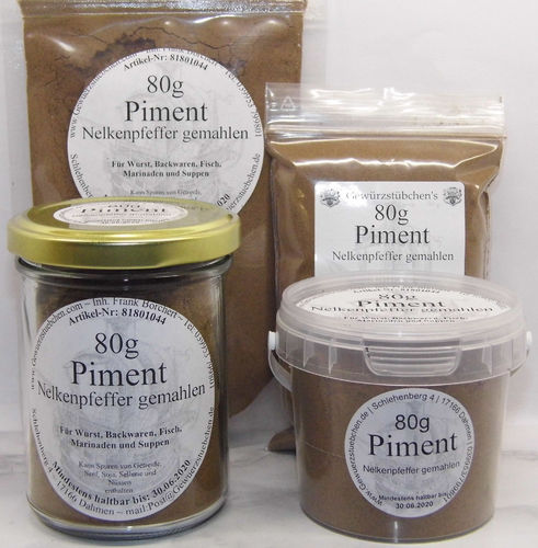 Piment  gemahlen (80g) variable Verpackung