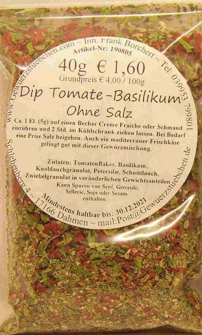 Dip Tomate-Basilikum