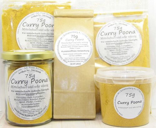 Curry Poona (75g) mittelscharf